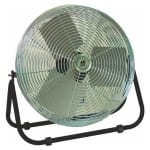 "TPI F-12-TE 12"" Industrial Floor Fan w/ (3) Speeds - Steel, 120v"