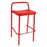 "emu 283 35.5"" Grace Stacking Barstool w/ Solid Back - Aluminum, Antique Cherry"