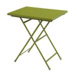 "emu 334 Arc En Ciel Folding Table w/ 20"" x 28"" Rectangular Top - Steel, Antique Green"