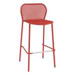 "emu 523 40.5"" Darwin Stacking Barstool w/ Mesh Back & Seat - Antique Cherry"
