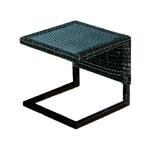 "emu 6553 Luxor Side Table w/ 16.5"" Square Wicker Top - Aluminum/Steel, Antique Bronze"