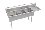"Elkay SE3C18X18-R-18X 74.5"" 3 Compartment Sink w/ 18""L x 18""W Bowl, 11"" Deep"