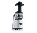 Omega VRT370HDW Vertical Masticating Juicer - Low-Speed, Spout with Tap, Stainless/White