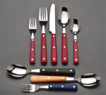 World Tableware 2046501 Cookout Brandware Dinner Knife - Red/Stainless
