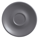 "World Tableware DRI-14-G 6"" Round Driftstone Saucer - Porcelain, Granite"