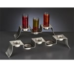"World Tableware FT-3 10.625"" Tiered Display Server Stand - Stainless"