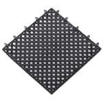 Notrax T47S1212BL Plasti-TILE Shelf & Bar Liner, 12 x 12 in, Interlocking, Black