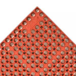 "Notrax T11U3958RD San-Eze II Grease-Proof Floor Mat, 39 x 58-1/2 in, 7/8"" Thick, Red"