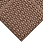 "Notrax T15U0033BR Optimat Grease-Resistant Floor Mat, 36 x 36 in, 1/2"" Thick, Brown"