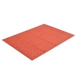 "Notrax T23U0032RD Mult-Mat II Reversible Oil Resistant Floor Mat, 3 x 2 ft, 3/8"" Thick, Red"