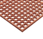 "Notrax 754275 Step Light Grease Resistant Floor Mat, 3 x 5 ft, 1/2"" Thick, Red"