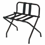 "CSL 1055BL-BL Luggage Rack w/ Black Straps - 26.5"" x 25"", Black Steel"
