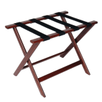 CSL 177CM-1 Luggage Rack w/ Black Straps, Deluxe Wooden, Cherry Mahogany