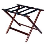 CSL 277CM-1 Economy Luggage Rack w/ Black Straps, Wooden, Cherry Mahogany