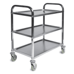 CSL 6300 3-Level Stainless Utility Cart w/ Raised Ledges