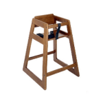 CSL 824DK Stackable Economy Wooden High Chair, Dark Finish