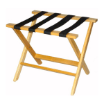 CSL TLR-100L-1 American Hardwood Luggage Rack w/ Black Straps, Light Oak