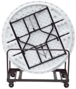 Royal Industries CORBTTRUCKROUND Round Banquet Table Truck, Holds 8-Tables