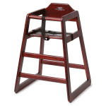 "Royal Industries ROY700M 29"" Stackable High Chair w/ Waist Strap - Wood, Mahogany"