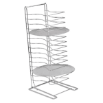 "Royal Industries ROYPTS15HD 15 Shelf Pizza Pan Rack for 10"" to 17"" Round Pans, Chrome-Plated Steel"