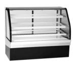 """Federal ECGD-59 59"""" Full Service Bakery Case w/ Curved Glass - (4) Levels, 120v"""