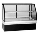 """Federal ECGR50CD 50"""" Full Service Deli Case w/ Curved Glass - (2) Levels, 120v"""