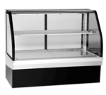 "Federal ECGR-59CD 59"" Full Service Deli Case w/ Curved Glass - (2) Levels, 120v"