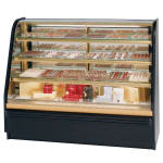 "Federal FCC-5 60"" Full Service Bakery Case w/ Curved Glass - (4) Levels, 120v"