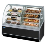 """Federal SN48-3SC 48"""" Full Service Bakery Case w/ Curved Glass - (4) Levels, 120v"""