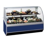 "Federal SN-4CD 48"" Full Service Deli Case w/ Curved Glass - (2) Levels, 120v"