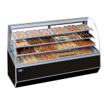 "Federal SN-59 59"" Full Service Bakery Case w/ Curved Glass - (4) Levels, 120v"