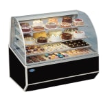 """Federal SNR-59SC 59"""" Full Service Bakery Case w/ Curved Glass - (4) Levels, 120v"""