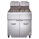 Vulcan 2GR45AF Gas Fryer - (2) 50-lb Vat, Floor Model, NG
