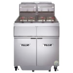 Vulcan 2GR45MF Gas Fryer - (2) 50-lb Vats, Floor-Model, LP