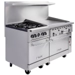 "Vulcan 60SC-4B36GT 60"" 4 Burner Gas Range with Griddle, LP"