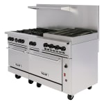 "Vulcan 60SC-6B24GB 60"" 6-Burner Gas Range with Griddle & Broiler, NG"