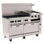 "Vulcan 60SS-6B24GB 60"" 6 Burner Gas Range with Griddle & Broiler, NG"