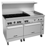 "Vulcan 60SS-6B24G 60"" 6-Burner Gas Range with Griddle, NG"
