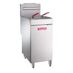 Vulcan LG300 Gas Fryer - (1) 40-lb Vat, Floor Model, NG
