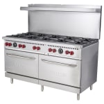 "Vulcan SX60-10B 60"" 6 Burner Gas Range w/ Standard Oven, LP"