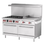 "Vulcan SX60F-6B24G 60"" 6 Burner Gas Range w/ Griddle, LP"