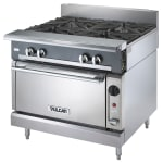 "Vulcan V4B36C 36"" 4 Burner Gas Range w/ Convection Oven, NG"