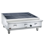 "Vulcan VTEC36 36.5"" Countertop Charbroiler w/ Conversion Burner, LP"
