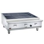 """Vulcan VTEC36 36.5"""" Countertop Charbroiler w/ Conversion Burner, NG"""