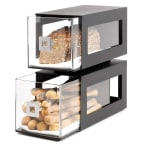 Rosseto BD101 2-Drawer Countertop Bakery Display Case, Acrylic/Stainless, Black