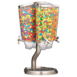 Rosseto EZP2760 Carousel Candy Dispenser with Stand - (4)1 gal Capacity, Clear/Stainless