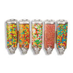 Rosseto EZP2890 Wall-Mount Candy Dispenser - (5)1-gal Capacity, Clear