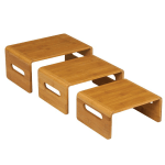 Rosseto SB101 Multi-Level Riser Set - Natural Bamboo