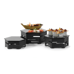 Rosseto SK018 6 Piece Centerpiece Riser Display Set - Black/Black Glass