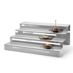 "Rosseto SM248 4 Tier Display Riser - 19.5"" x 15.3"", Stainless"